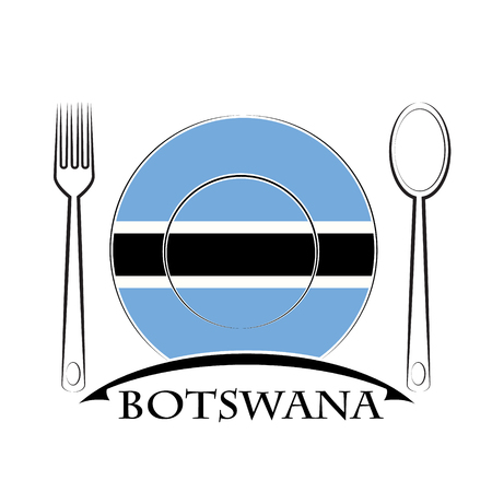 country kitchen: Food  logo made from the flag of Botswana