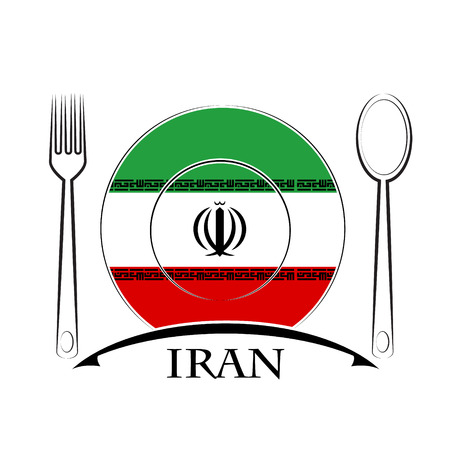 country kitchen: Food  logo made from the flag of Iran