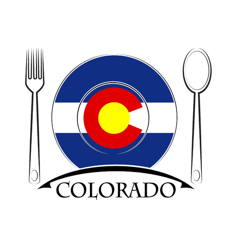 country kitchen: Food  logo made from the flag of Colorado