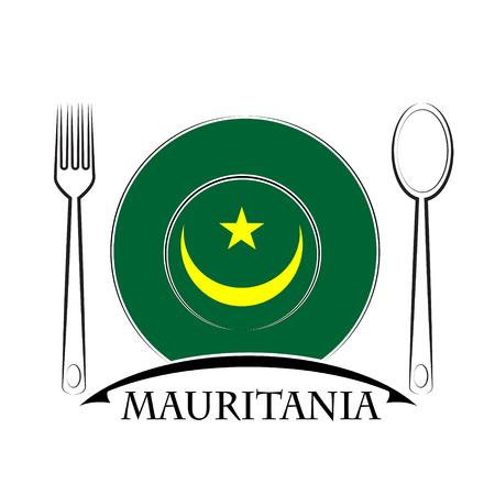 mauritania: Food logo made from the flag of Mauritania