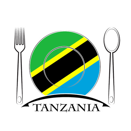 country kitchen: Food  logo made from the flag of Tanzania