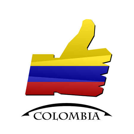 confirm: like icon made from the flag of colombia