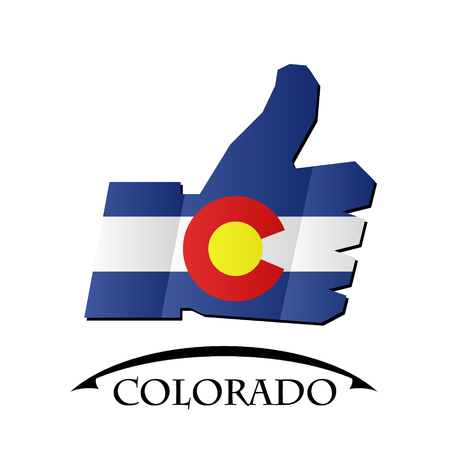 like icon made from the flag of Colorado