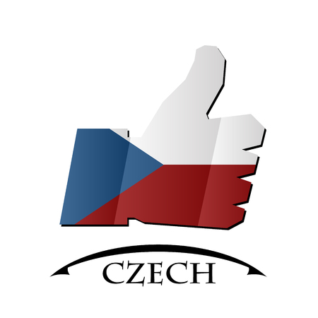 like icon made from the flag of Czech