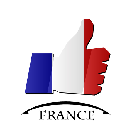 nice france: like icon made from the flag of France Illustration