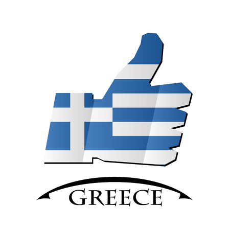 like icon made from the flag of Greece