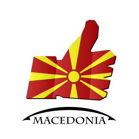like icon made from the flag of Macedonia