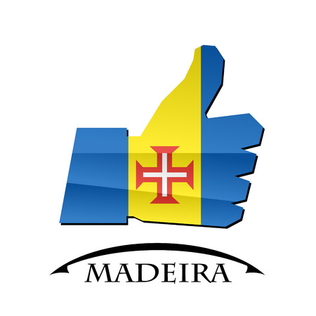 like icon made from the flag of Madeira Illustration
