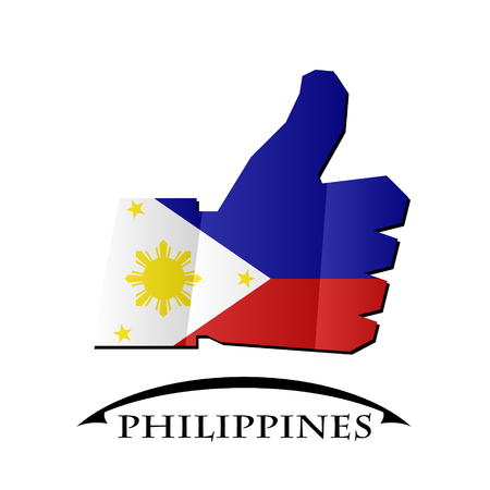 like icon made from the flag of Philippines