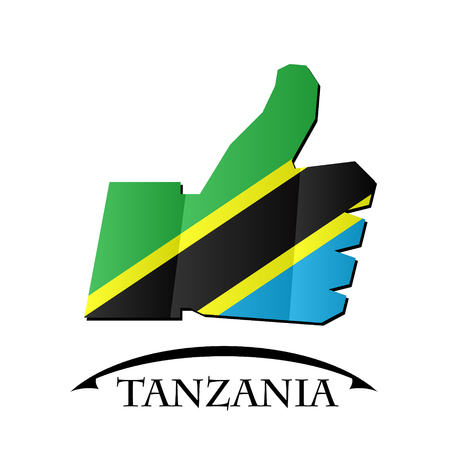 like icon made from the flag of Tanzania