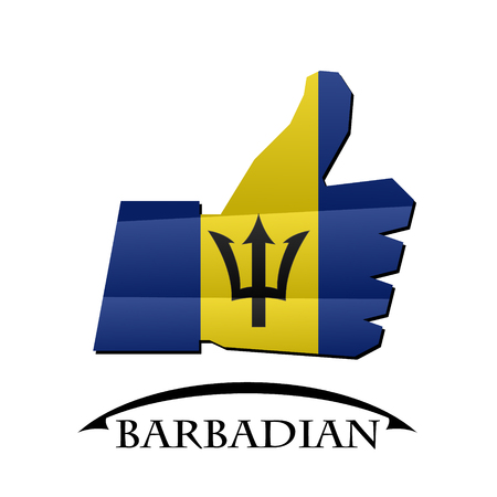 like icon made from the flag of Barbadian