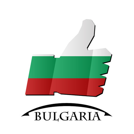 like icon made from the flag of Bulgaria