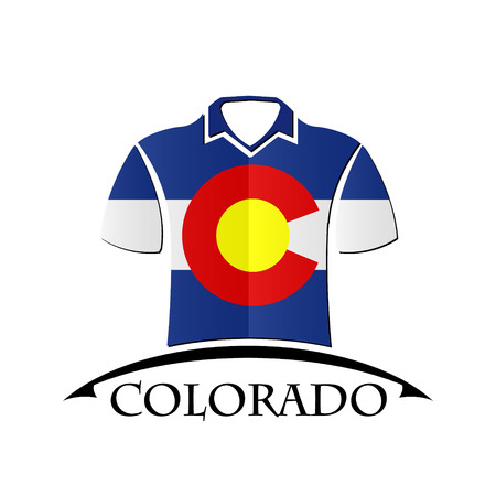 shirts icon made from the flag of Colorado Illustration