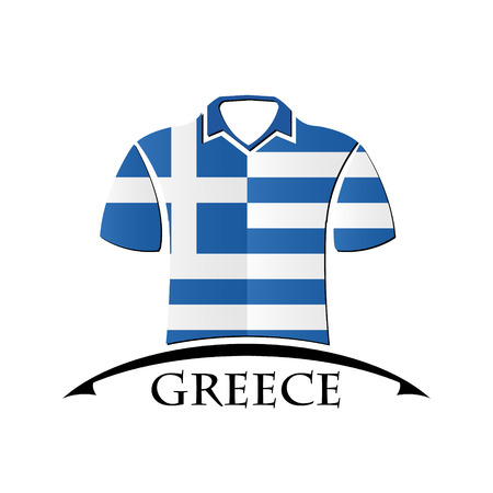 shirts icon made from the flag of Greece Illustration