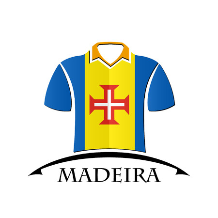 shirts icon made from the flag of Madeira