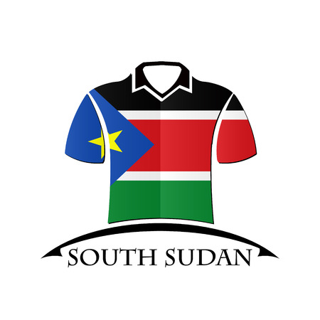 south sudan: shirts icon made from the flag of South Sudan