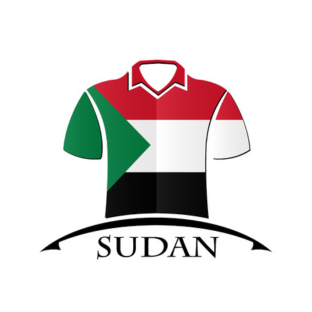 shirts icon made from the flag of Sudan