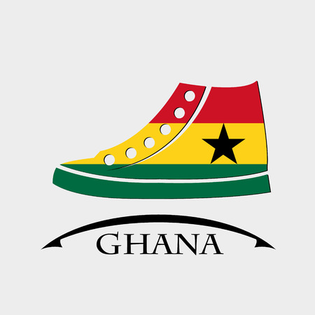 shoes icon made from the flag of Ghana