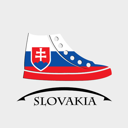 shoes icon made from the flag of Slovakia Illustration