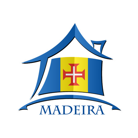 House icon made from the flag of Madeira