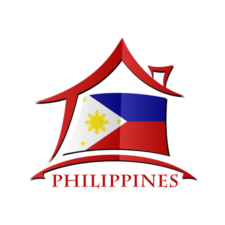 House icon made from the flag of Philippines
