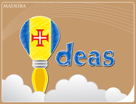 Idea concept  made from the flag of Madeira, conceptual vector illustration