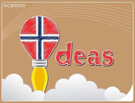 Idea concept  made from the flag of Norway, conceptual vector illustration