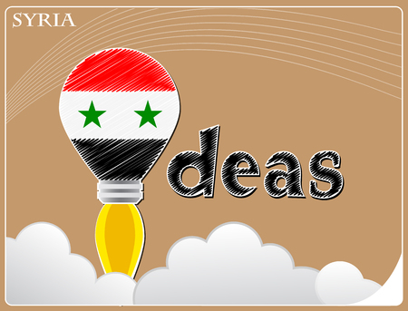 Idea concept  made from the flag of Syria, conceptual vector illustration Illustration