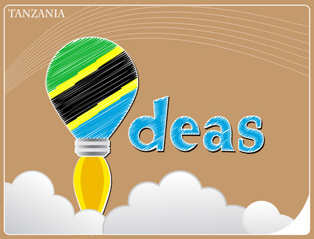 tanzania: Idea concept  made from the flag of Tanzania, conceptual vector illustration Illustration