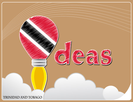 Idea concept  made from the flag of Trinidad and Tobago, conceptual vector illustration