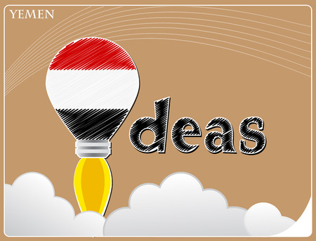 Idea concept  made from the flag of Yemen, conceptual vector illustration