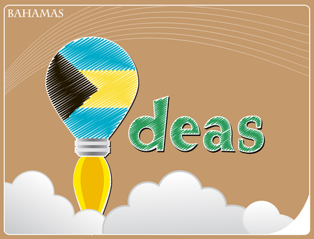 bahamas: Idea concept  made from the flag of Bahamas, conceptual vector illustration Illustration