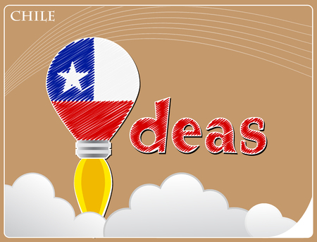 Idea concept  made from the flag of Chile, conceptual vector illustration