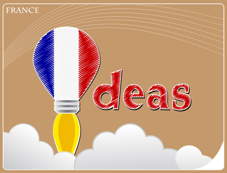 Idea concept  made from the flag of France, conceptual vector illustration Illustration