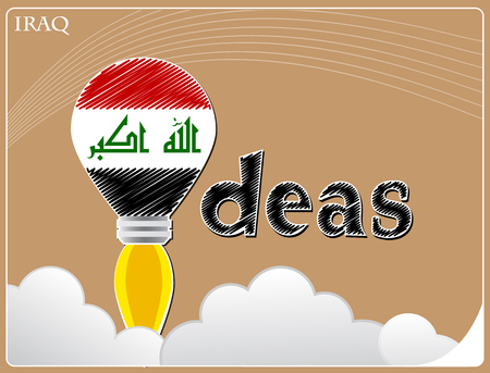 Idea concept  made from the flag of Iraq, conceptual vector illustration Illustration