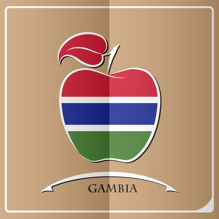 gambia: Apple logo made from the flag of Gambia.