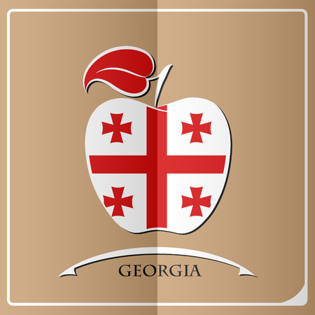 georgia: Apple logo made from the flag of Georgia.