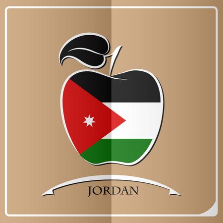 apple logo made from the flag of Jordan
