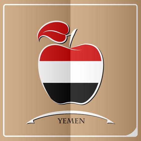 yemen: apple logo made from the flag of Yemen