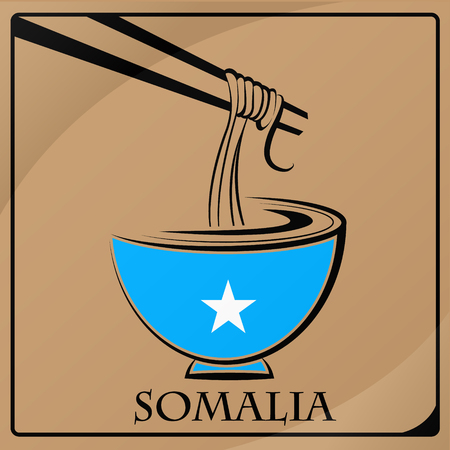 noodle logo made from the flag of Somalia