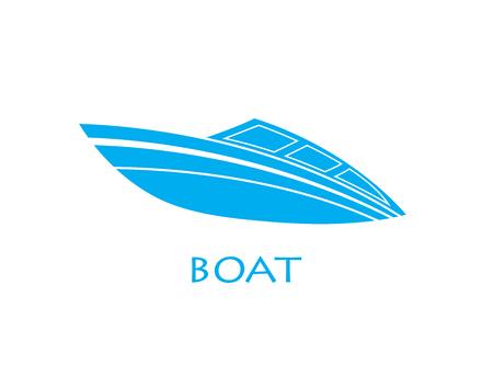 Vettore logo barca