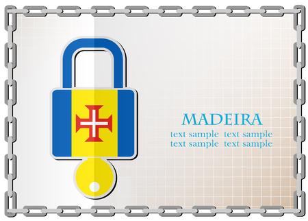 lock logo made from the flag of Madeira Banco de Imagens - 83107651
