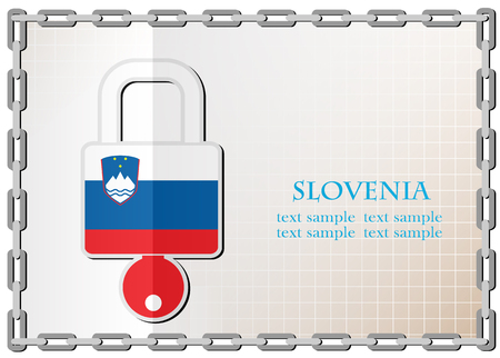 secret codes: lock logo made from the flag of Slovenia