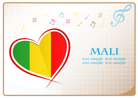 newest: heart logo made from the flag of Mali Illustration