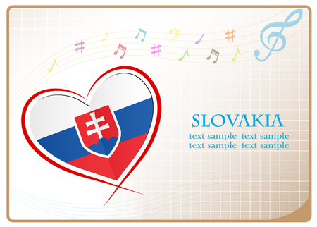newest: heart logo made from the flag of Slovakia