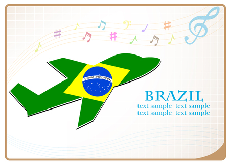 adventurer: Plane icon made from the flag of Brazil