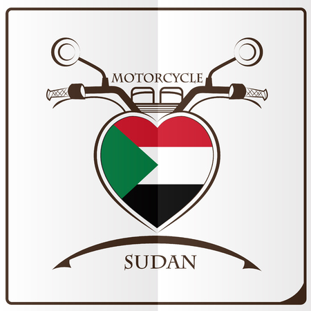 motorcycle logo made from the flag of Sudan
