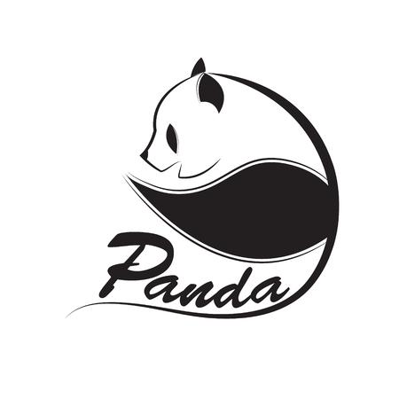 vector de diseño de logotipo de panda.