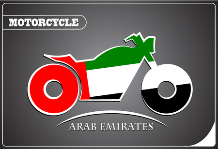 motorcycle logo made from the flag of Arab Emirates