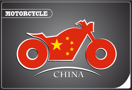 motorcycle logo made from the flag of China